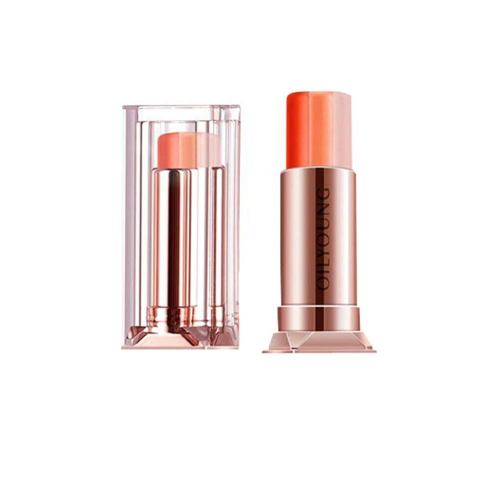 Bigskyie 3.5gOrange LipGloss Moisturizing Difficult Decolorize Gradient Tricolor Lipstick
