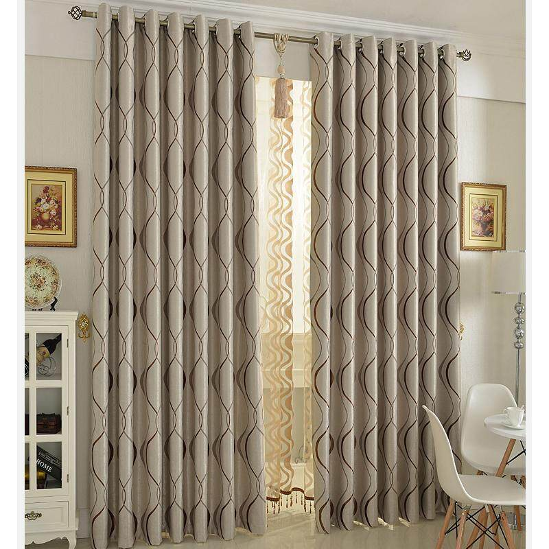 [OrangeHome] 250*270 CM (1 pc) Blackout Curtain Drape Ring/Eyelet/Punch Window Room Bedroom Balcony Brown A01-LDZ - intl