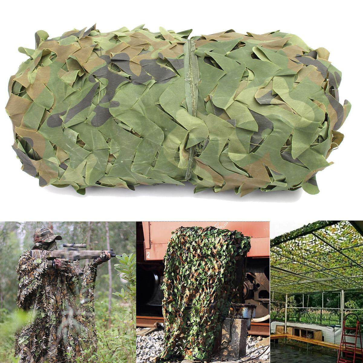 Woodland Camouflage Netting Military Army Camo Hunting Shooting Hide Cover Net By Moonbeam.