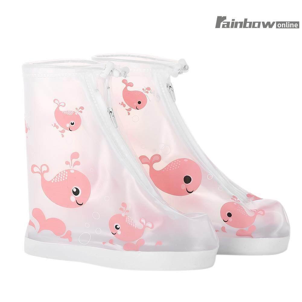 เด็กเด็กกันฝนกันน้ำสวมใส่ - Resisting Anti - Slip ถุงหุ้มรองเท้า S - Intl
