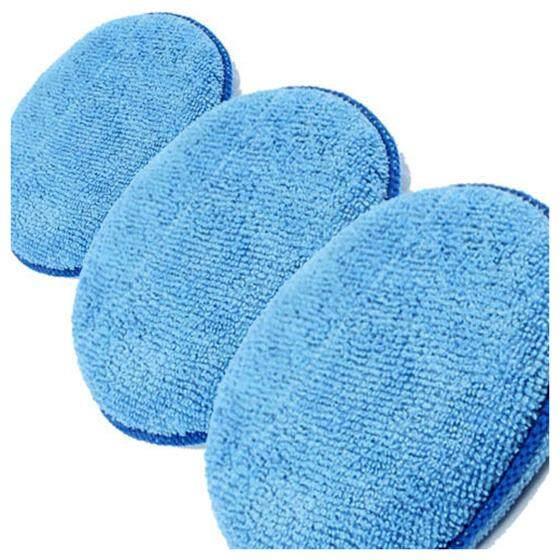 3 X Microfibre Foam Sponge Polish Wax Applicator Pads Car Home Cleaning By Yomichew.