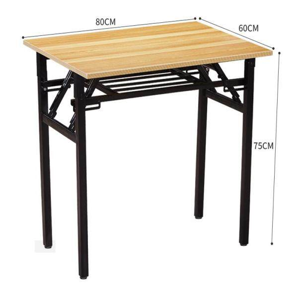 RuYiYu - 2 Layer Wood Top Folding Table, Wood Panel, Steel Frame, Snack Table Set,Drop-leaf Table, Folding Table, Drop-leaf Table,4 Person, 6 Person