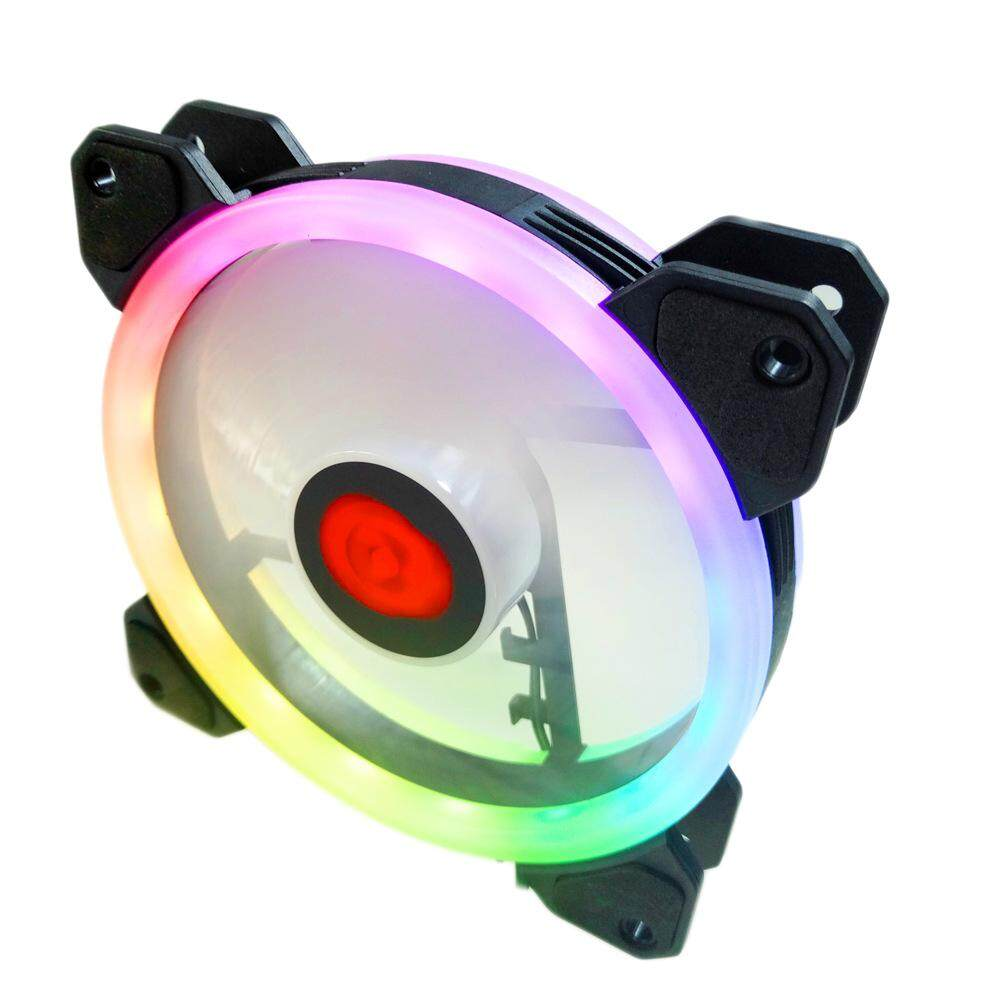 Aukey Cooler Fan Stand Case Fan Heatsink Colorful 12cm Mute Luminescence Heat Radiation - intl