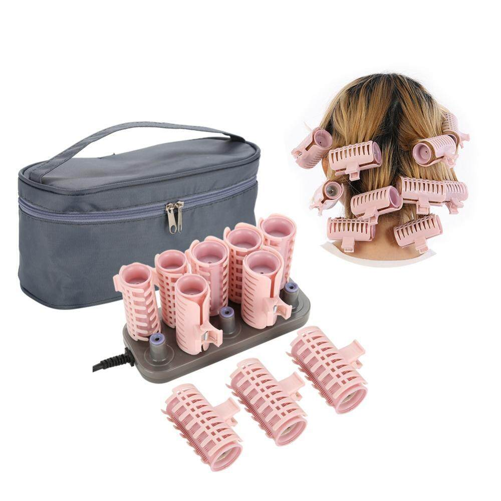 10Pcs Professional Electric Heated Roller Curling Roll Hair Tube Hair Styling Upgrade Style nhập khẩu