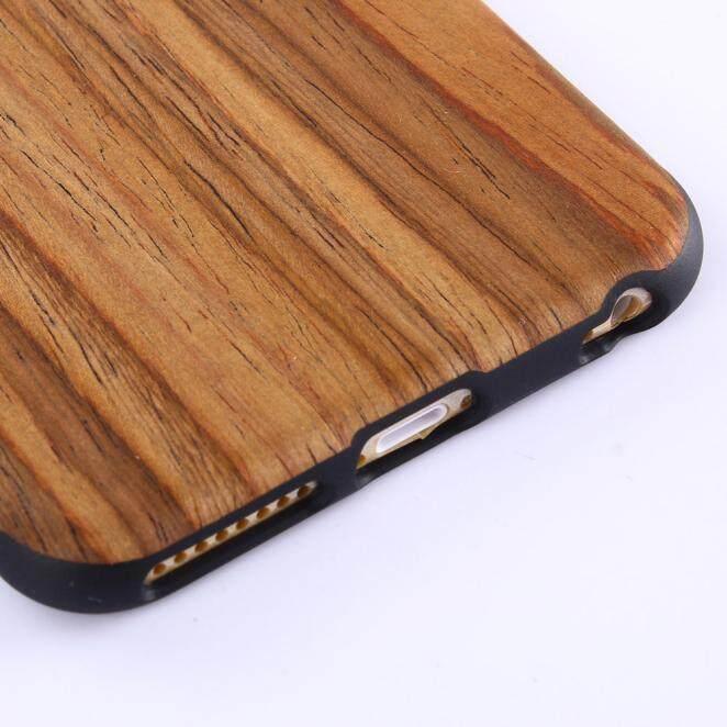Bahan Kayu Kayu Alami Case Cover Melindungi Pola untuk iPhone 6 S Plus 5.5 Inci Honioer