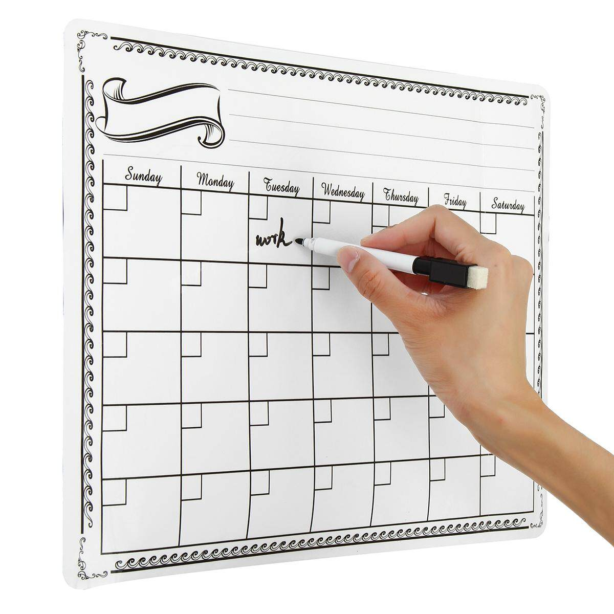 Magnetic Dry Erase Calendar Board Wall Monthly Time Planner Whiteboard By Audew.
