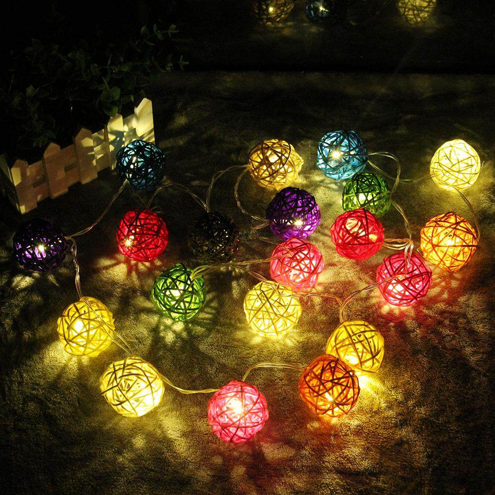 Lights For Sale Lighting Prices Brands Review In Philippines Led Wire Diagram Christmas 25 The Latest Hot Selling Decorative String5m Rattan Ball String Light