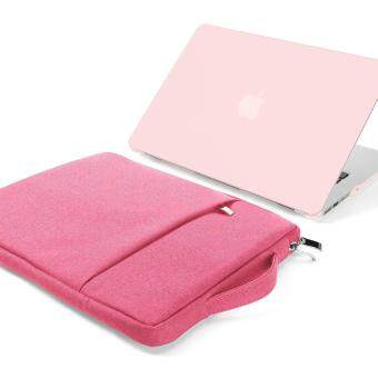 2 in 1 Bundle Soft - Touch Frosted Hard Case for MacBook Air 13 inch (Model: A1369/ A1466) and 13-13.3 inch Water Repellent Laptop Sleeve with Handle and Pocket