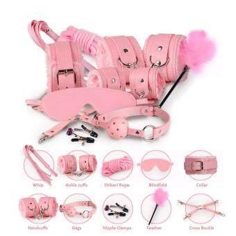 Harga preferensial Mainan Pasangan Boneka 10 Pcs Cambuk Khusus Mainan Harness Borgol Menahan Diri Kit beli