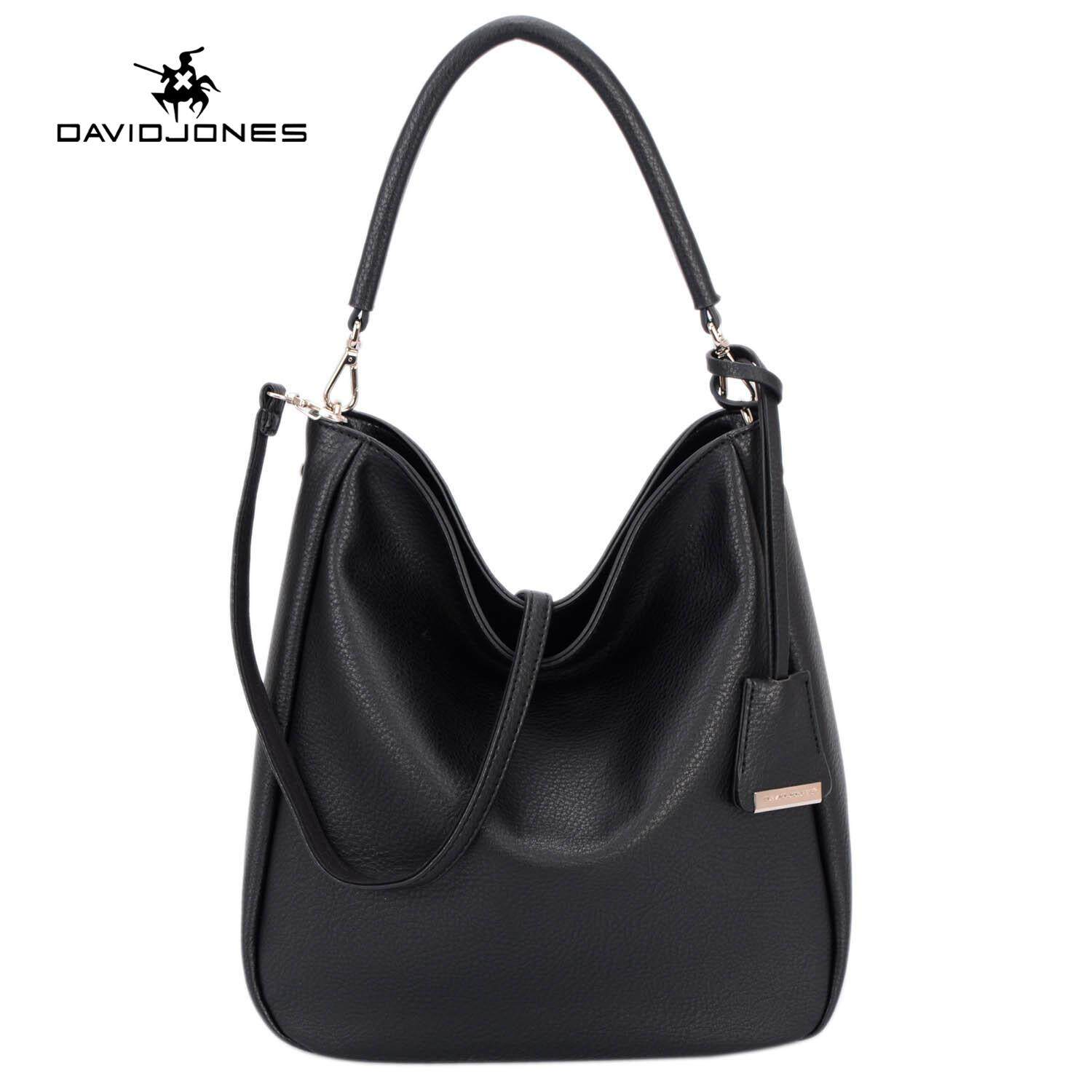 ce04aa1c7e65e DAVIDJONES women handbag pu leather female crossbody bag large lady plain  shoulder bag girl casual messenger
