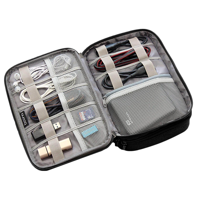 Detail Gambar Universal Portabel Perjalanan Membawa Penyimpanan Pelindung Tas Ganda Lapisan Perlindungan Tas Tangan Organizer Kotak