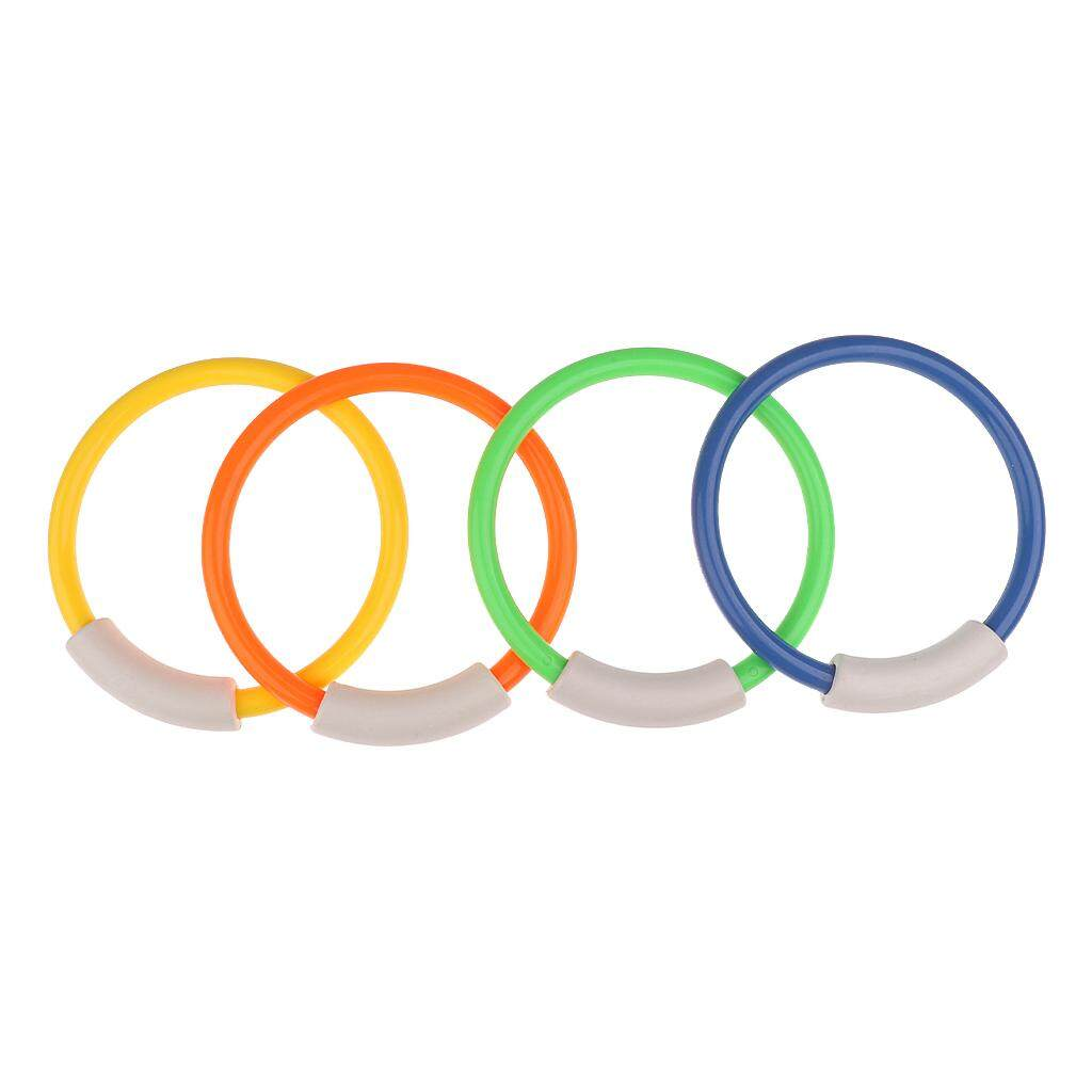 MagiDeal 4 x Underwater Swimming Pool Multi-colored Diving Rings Children Kids Swim Fun Toys Holiday Water Sports Toys 5.5inch Diameter