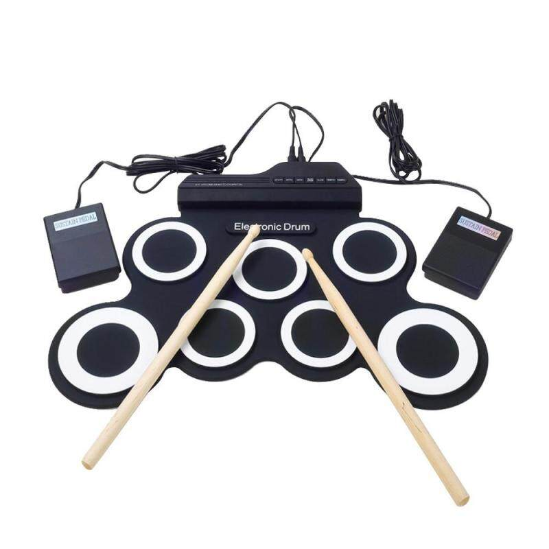 yydsop Portable Electronic Roll Up Drum Pad Instrument Gift Kit Silicon Foldable With Stick - intl