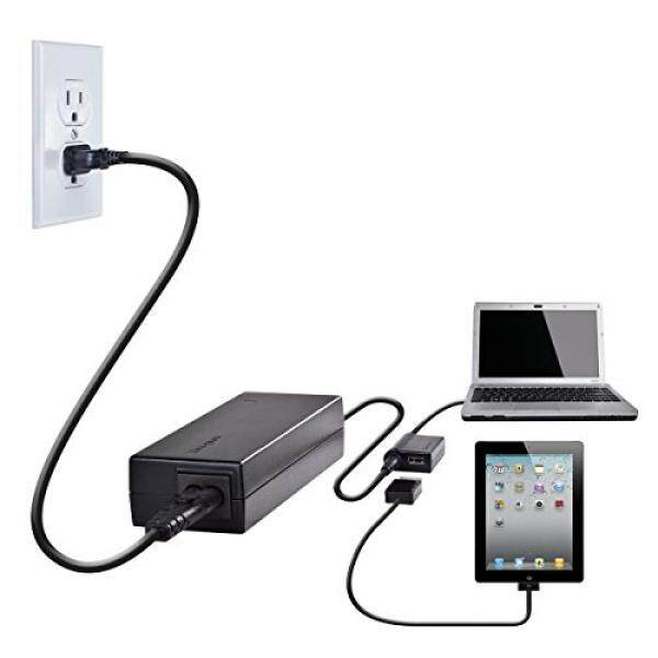 Pengisi Daya Laptop & Adapter Targus 90 W AC Laptop Universal dan Perangkat Seluler Charger dengan Port USB, termasuk 12 Tips For Kompatibel dengan Merek Utama: Acer, ASUS, HP, Compaq, Dell, toshiba, Gateway, IBM, Lenovo Fujitsu (APA32USZ)-Intl