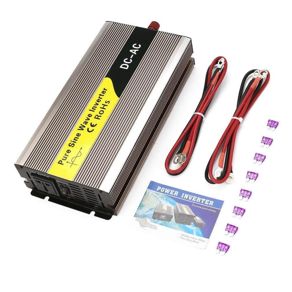 GOFT DC12V To AC220V 2000W Pure Sine Wave Inverter Car Power With USB Port Gold