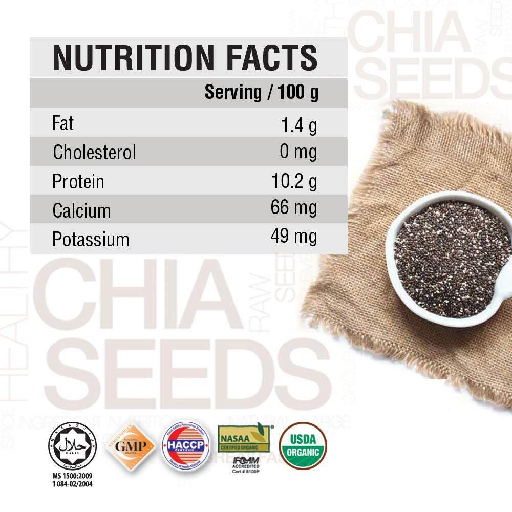 Organic Care2u Organic Chia Seed (180g) - [Bundle of 6]