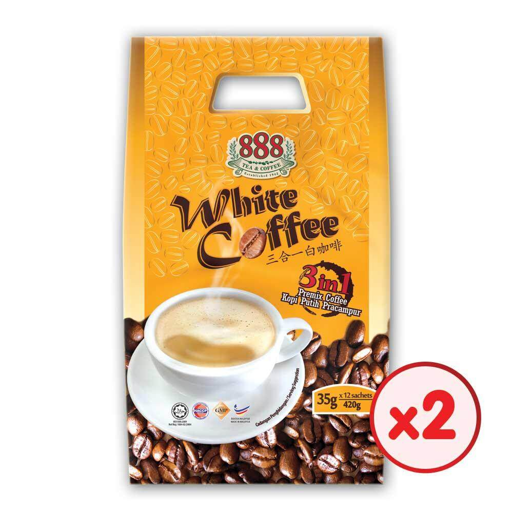 888 3 In 1 Instant White Coffee (35g x 12 Sachets) - [Bundle of 2]