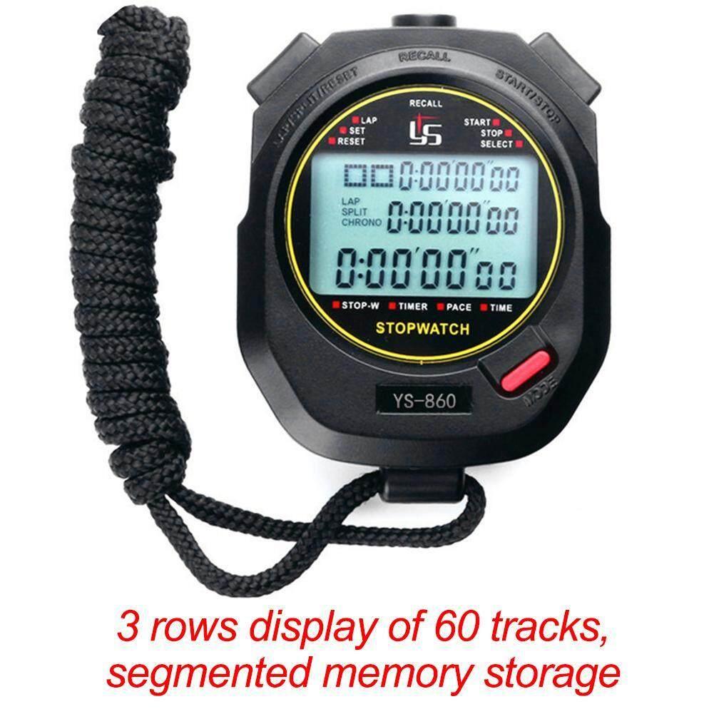 Handheld Stopwatch Digital Olahraga Penghitung Waktu Timer Pelatihan Stopwatch (netral)--Intl By Joyonline.
