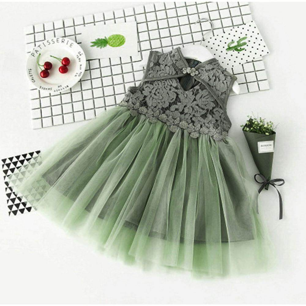 095d4aecf Tideshop Infant Baby Girls Children Clothing Cheongsam Lace Princess Party  Dress By Tideshop.