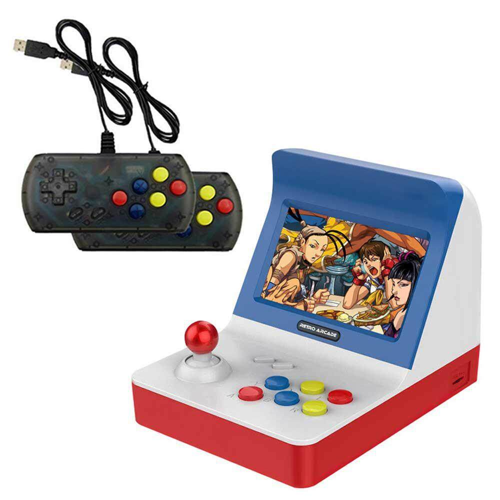 Lightsmile Retro Konsol Game Genggam, Mini Konsol Permainan RS-07-3000 Built-In Game Retro, 64bit Prosesor Dual Core, 4.3