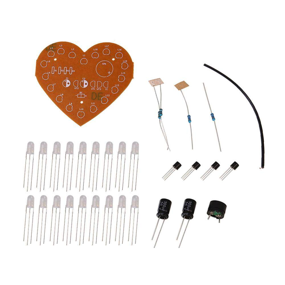Buy Sell Cheapest Kurry Electronic Silicon Best Quality Product Shaped Flash Light Lamp Circuit Board Production Suite Diy Store Free Shipping Heart Love Led Dual Color Control Kits
