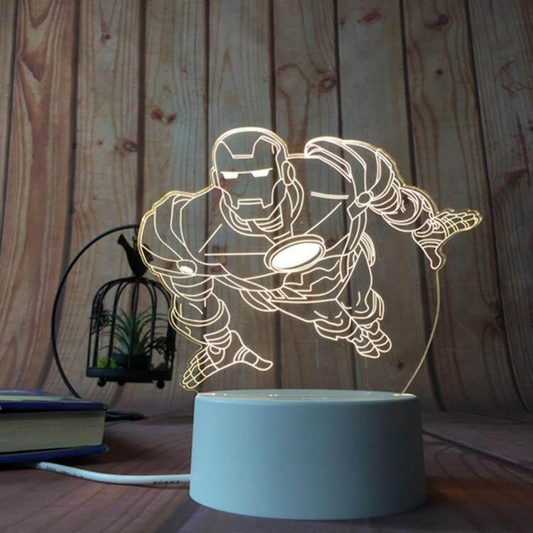 3D Optical Illusion LED Table Night Light(Iron Man)