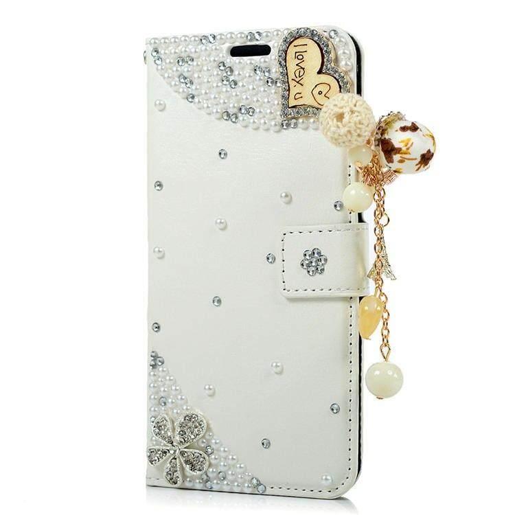 Mewah Wanita Fashion Diamond Mawar Hitam Case Case untuk Samsung Galaxy C9/C9 PRO Flip Rhinestone Dompet Kulit Sarung Buatan Tangan untuk Samsung Galaxy C9/C9 Pro
