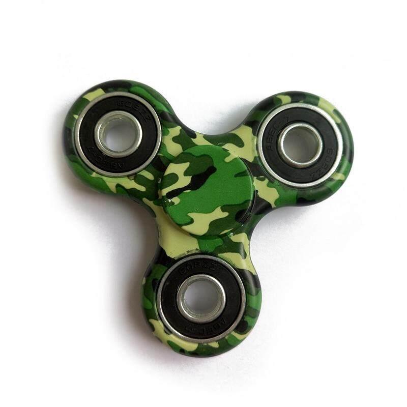 AUkEy Toko Spinner EDC Camo Dicat Stres Spinner Gelisah Jari Fokus Gyro Berputar Mainan Hadiah-