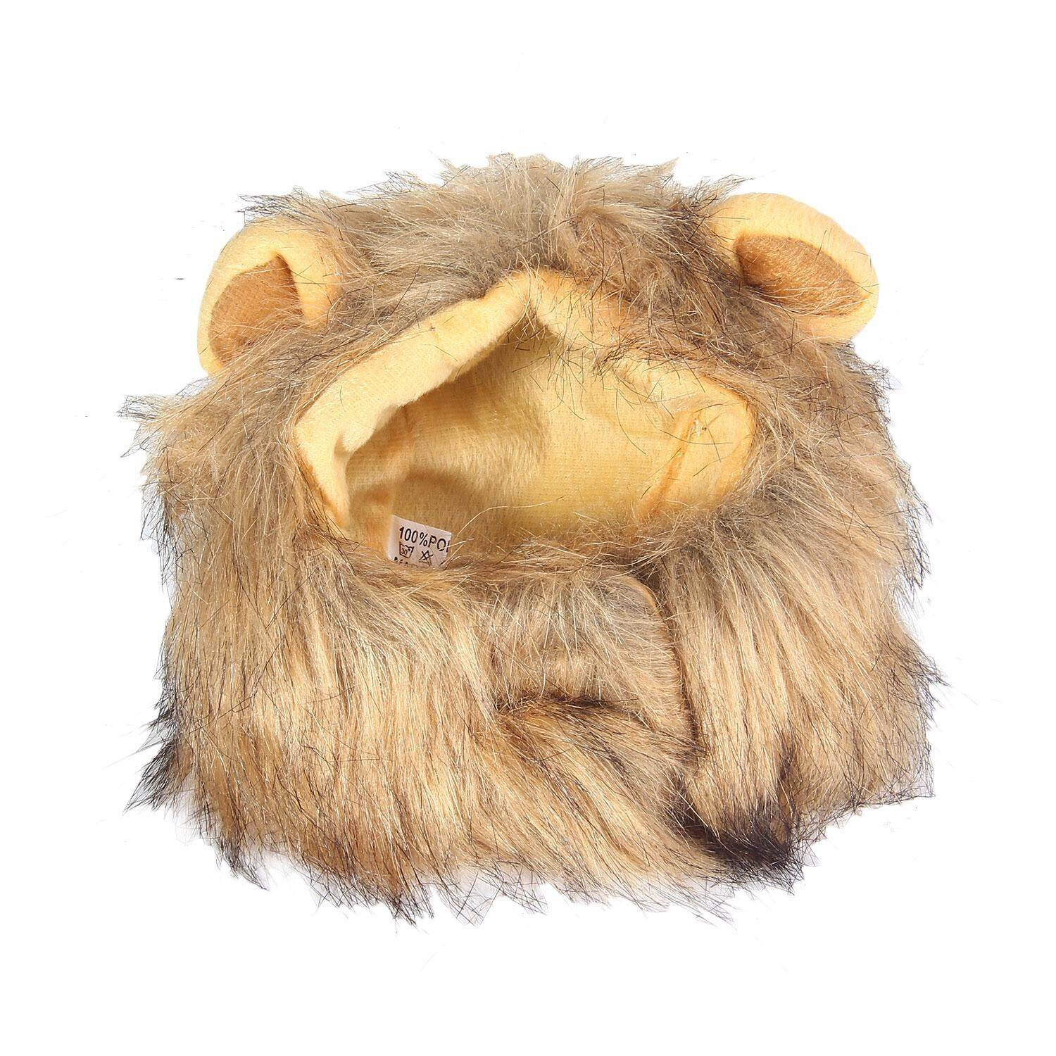 iokioh Lion Mane Wig For Dog And Cat Costume Pet Adjustable Washable Comfortable Fancy Lion Hair Dog Clothes Dress For Halloween Christmas Easter Festival Party Activity - intl