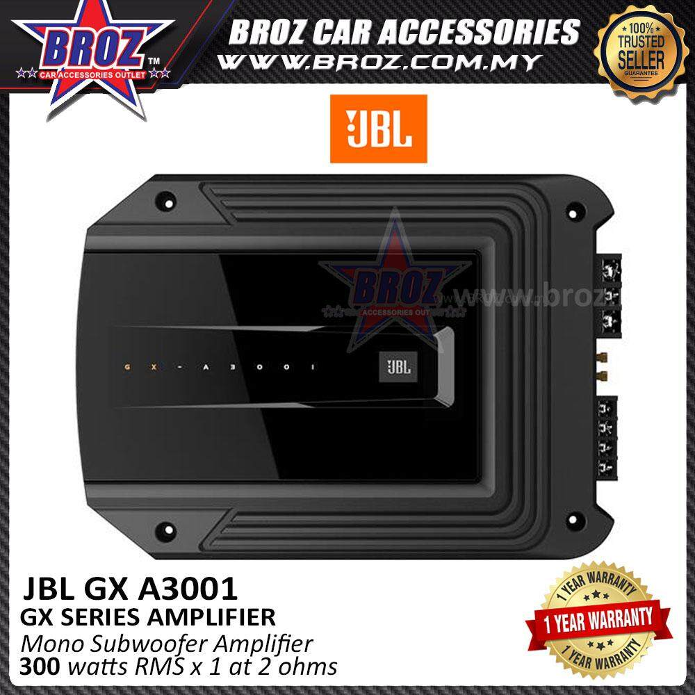Broz JBL GX-A3001 Mono Subwoofer Amplifier - 300 watts RMS x 1 at 2 ohms