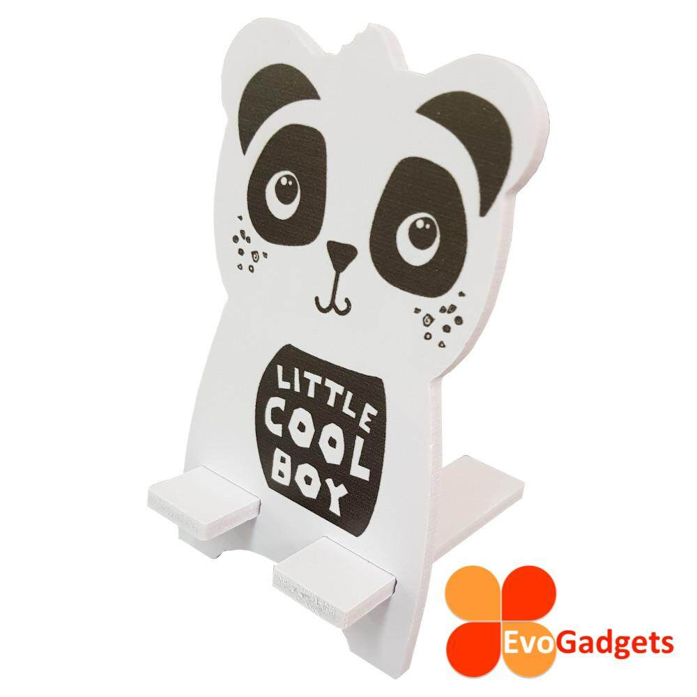 EvoGadgets Portable Wooden Cartoon Phone Stand or Holder (Panda)