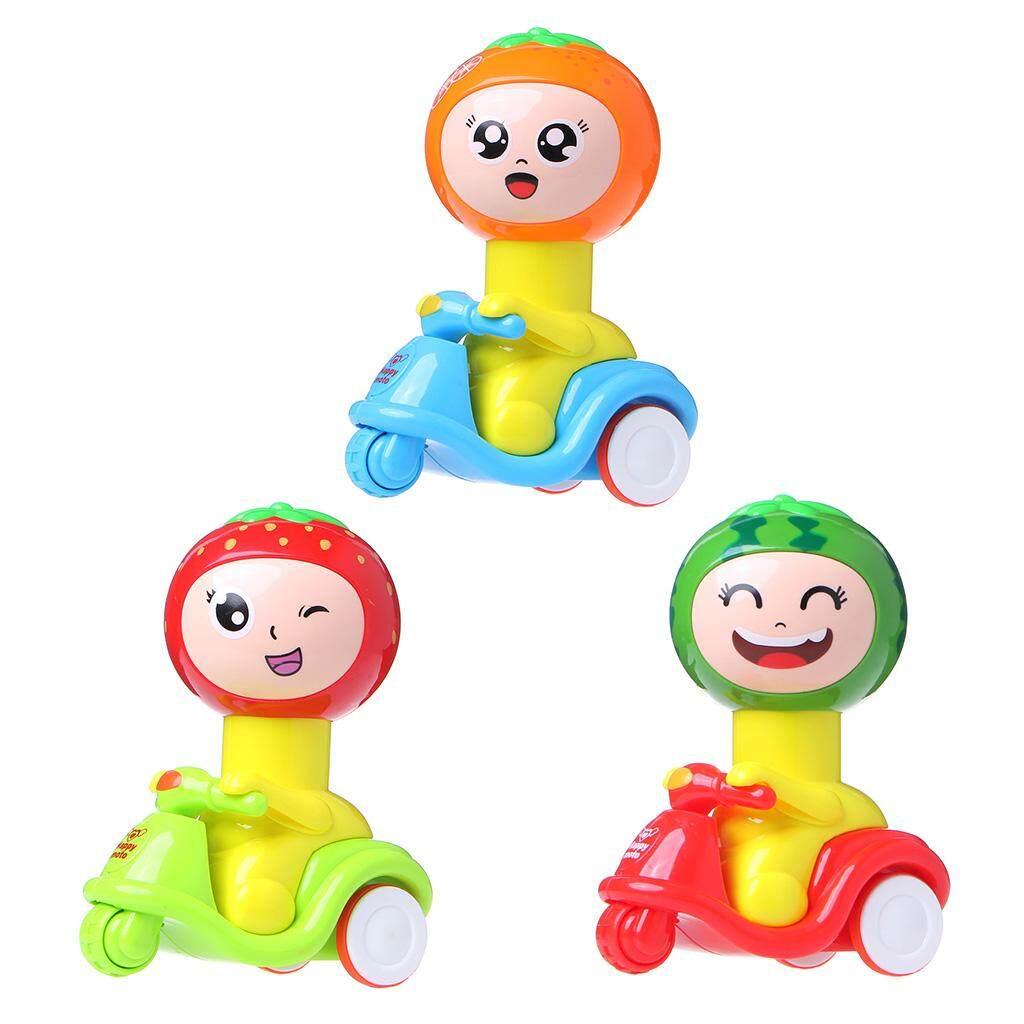 Baru Tekan Kepala Run Buah Mainan Motor Inersia Mobil Mainan Anak-anak Mainan-Internasional