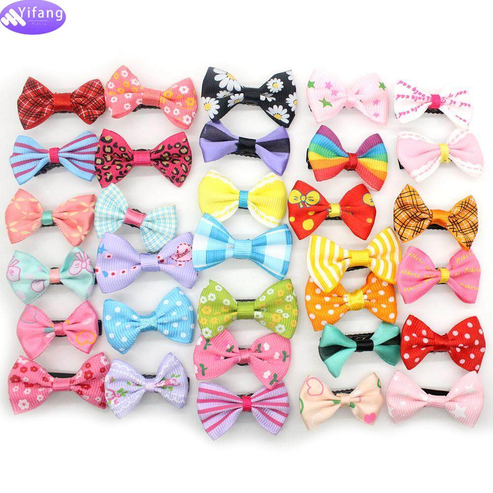 a77391cf375f Yifang Hot Attractive 10Pcs/lot Candy Color Solid/ Dot/ Flower Print Ribbon  Bow