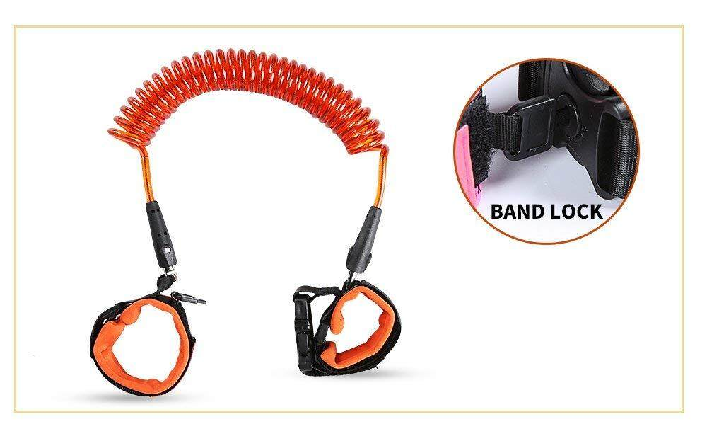 Kualitas Tinggi Anti Hilang Wrist Link (Biru) | Safety Velcro Wrist Link | Harness Tali Kekang Bayi | Cocok untuk Bayi/Anak | Besar untuk Anak Laki-laki dan Perempuan di Mall bandara, Taman dan Pantai | Oleh