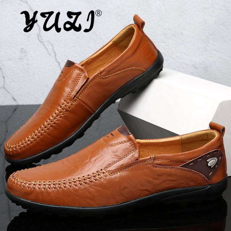 Yuzi Kualitas Tinggi Sepatu Pria Pria Sepatu Kasual Sepatu Kulit Flat Nyaman Sepatu Kasual Sepatu Jalan Gommino, Sepatu Berkendara Nyaman By Yuzi.