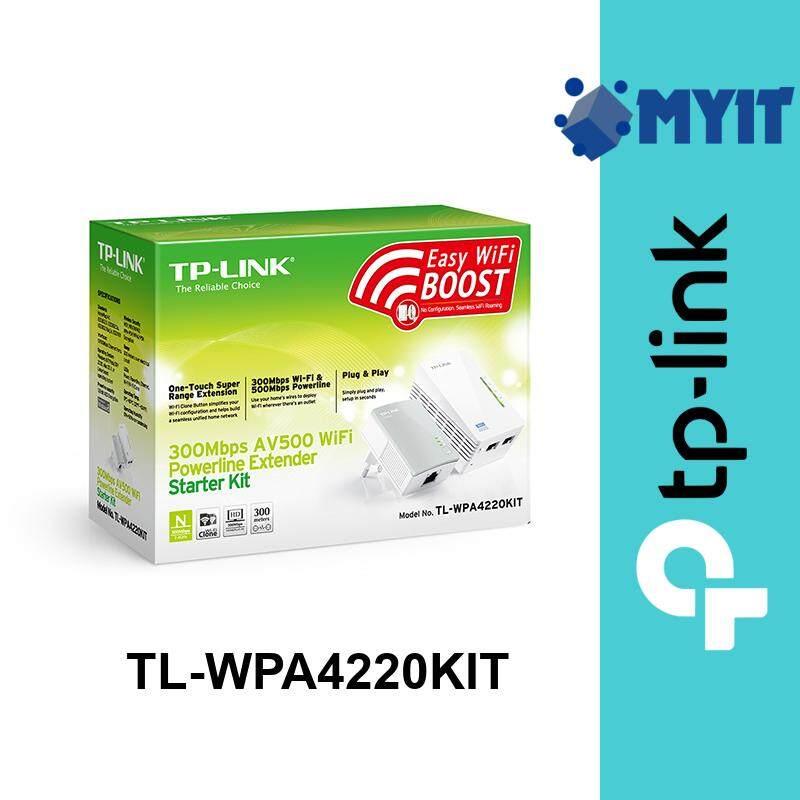 TP-Link TL-WPA4220KIT AV500 Powerline Adapter 500Mbps and WiFi Range Extender 300Mbps Wired/Wireless WPA4220 Network Kit WPA4220KIT