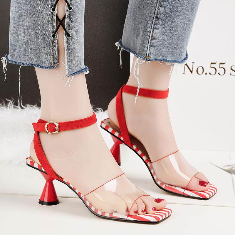 6c1c460d6 Metallic Strappy Sandals Silver Gold Platform Gladiator Sandals Women High Heels  Shoes Summer shoes size 4