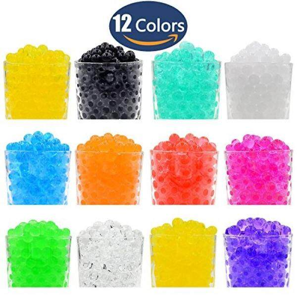 Hosim Water Beads, 20000pcs 12 Colors 10g per Pack Colorful Magic Growing Jelly Pearls Balls for Orbeez Spa Refill, Kid Tactile Sensory Toys, Furniture Decorative Vase Filler and Wedding Decor 24 Pack - intl