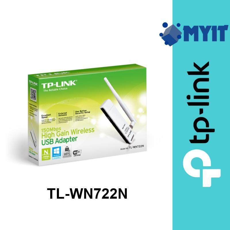 TP-Link TL-WN722N 150Mbps High Gain Wireless USB WiFi Network Adapter 2.4GHz Single Band with 4dBi Antenna WN722N