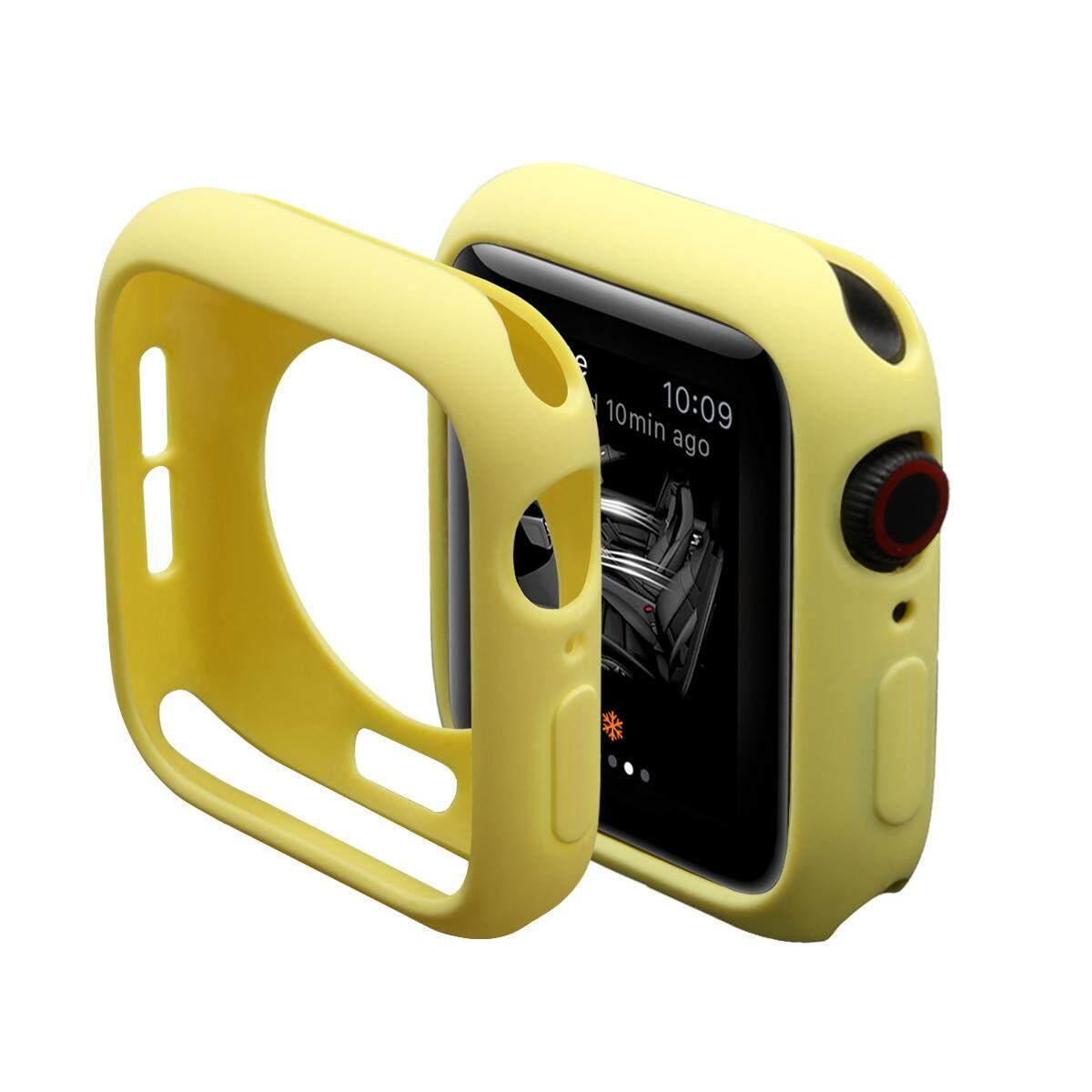 Lembut Tahan Guncangan Silikon Penuh Bumper Pelindung Frame Case Penutup untuk Apple Watch Seri 4 44