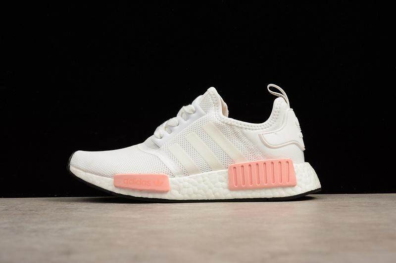 7acc49e6c Adidas NMD R1 Boost Women s Fashion Casual Sneakers Classic Sports Running  Shoe (White Pink