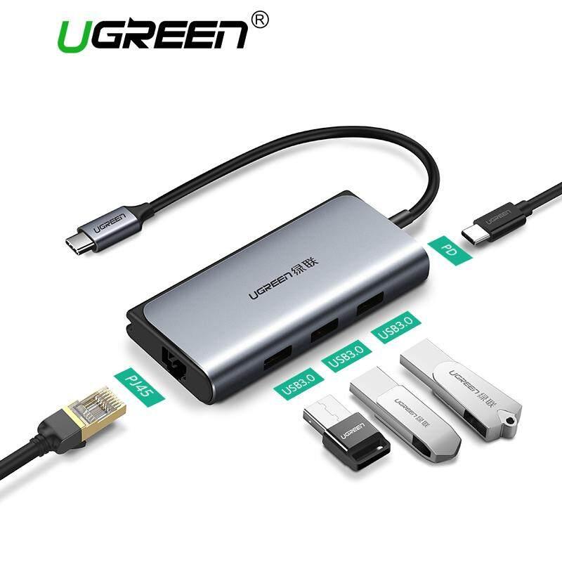 UGREEN USB C 3.0 HUB RJ45 Adapter  PD Dock for MacBook Pro Samsung Galaxy S9/S8 Plus Huawei Mate 10/P20 Type C