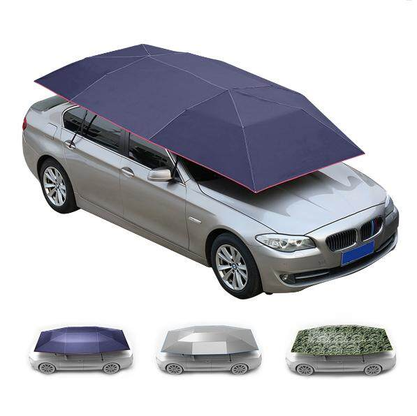 400x210cm Semi-Automatic Car Roof Sunshade Camouflage By Audew.