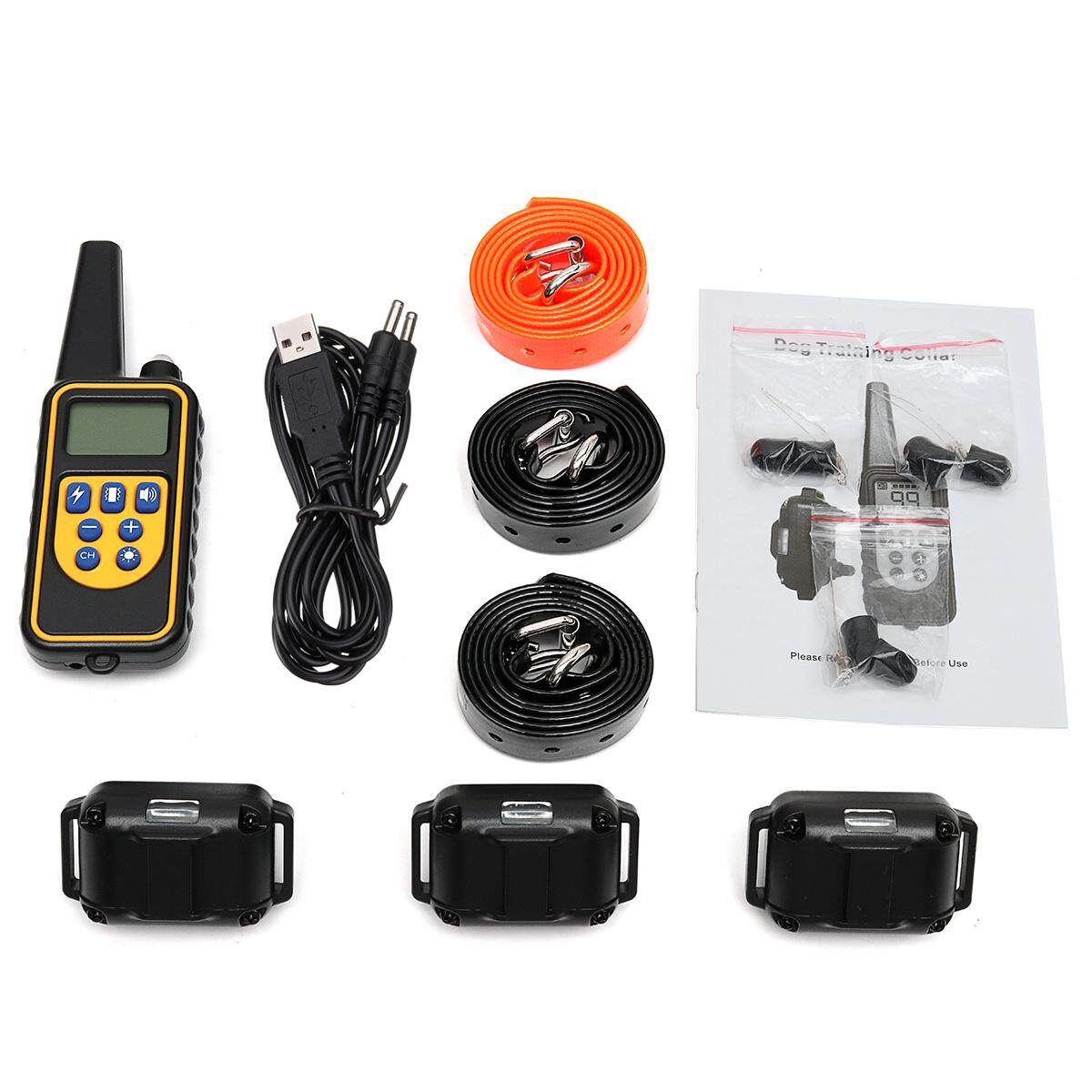 Rechargeable Electric Remote Dog Training Shock Collar Waterproof For 3 Dogs By Freebang.