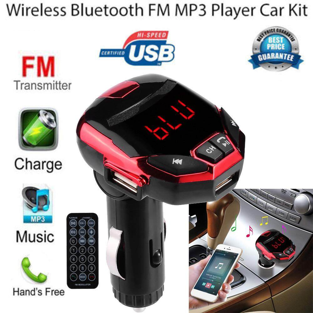 Wireless Bluetooth LCD FM Transmitter Modulator USB Car Kit MP3 Player SD Remote