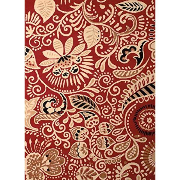 United Weavers of America Dallas Bandanna Rug, 23 x 8, Red - intl