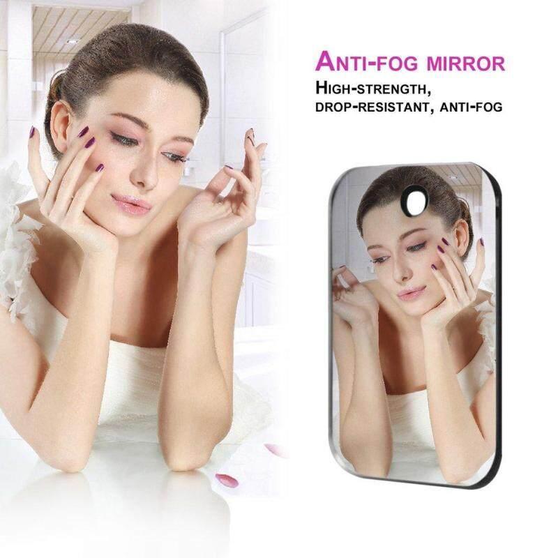 GOFT Shatterproof PVC Anti-Fog Fog Free Shower Mirror Bathroom Fogless Mirror Silver