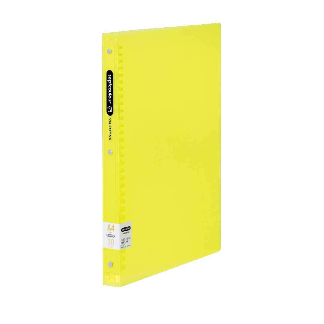 SEPT COULEUR A4, 30 Holes, 90 Sheets, 30 Spine Width - Yellow
