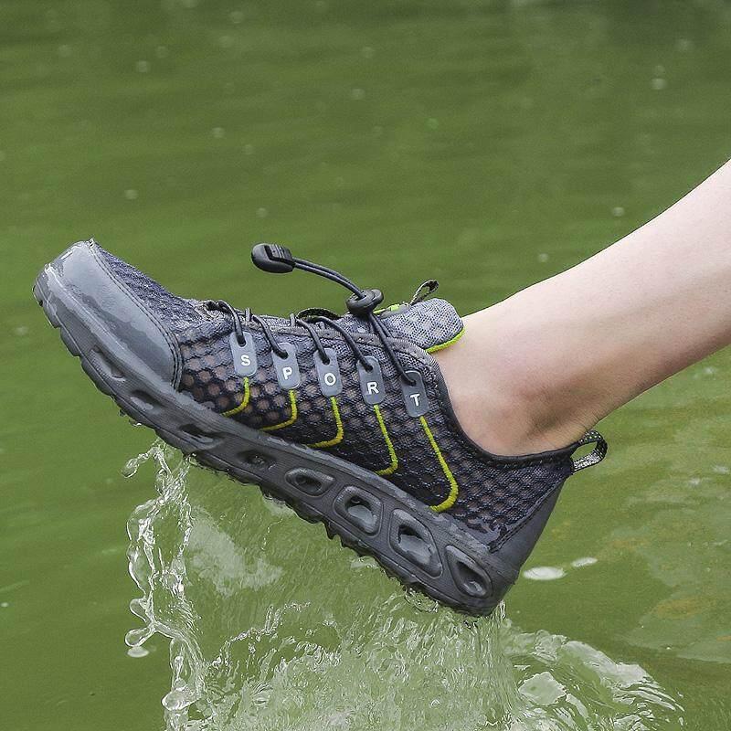 ... MENTEE Pria Dan Wanita Luar Hiking Sepatu Sneakers Mengarungi Mesh Bernapas Hulu - 5