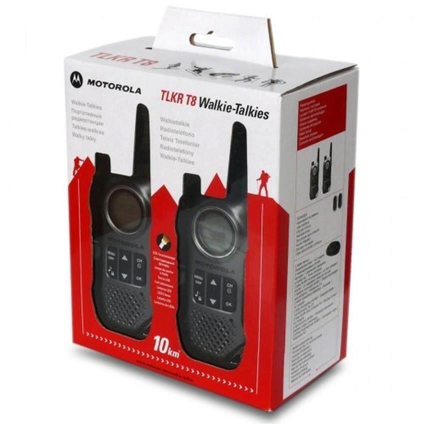 Motorola Original Walkie Talkie TLKR T8 (Twin Pack, 10KM Max Range)
